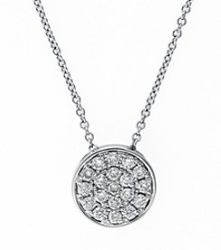 Effy® 0.28 ct. t.w. Diamond Pendant in White Gold