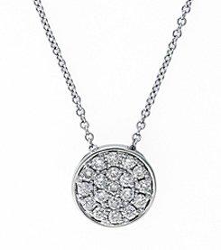 Effy® 0.28 ct. t.w. Diamond Pendant in White Gold
