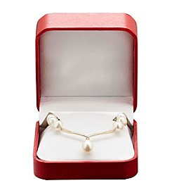 Cultured Freshwater Pearl & 0.02 ct. t.w. Diamond Necklace in 10K Gold
