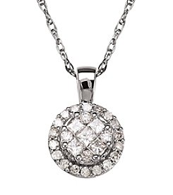 0.38 ct. t.w. Diamond Pendant Necklace in 10K White Gold
