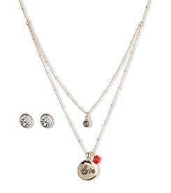 Nine West Vintage America Collection® Double Pendant Goldtone Necklace & Earrings Set