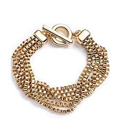 Anne Klein® Box Chain Goldtone Bracelet