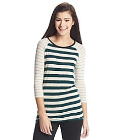 Pink Rose® Mixed Stripe Raglan Tunic
