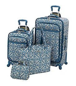 Waverly® Boutique Aqua Lace-It-Up 4-pc. Luggage Set