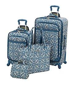 Waverly® Boutique Aqua Lace-It-Up 4-pc. Luggage Set