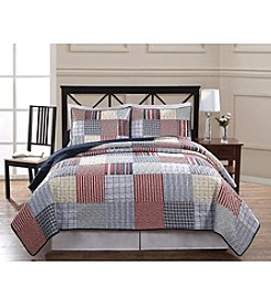 American Traditions® Blue Plaid Patchwork Mini Quilt Set