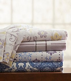 Pointehaven UltraSoft Printed Flannel Sheet Set