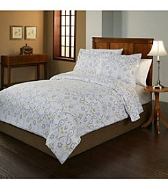 Pointehaven Meadow UltraSoft Flannel Duvet Set