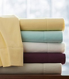 Pointehaven Solid UltraSoft Flannel Sheet Set