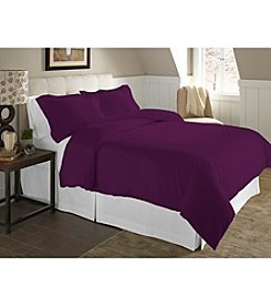 Pointehaven Solid UltraSoft Flannel Duvet Set
