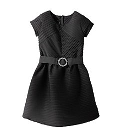 Amy Byer® Girls' 7-16 Textured Dress with Rhinestones