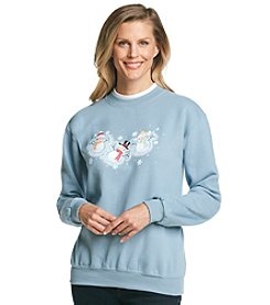 Morning Sun® Snowman Angels Pullover Sweatshirt