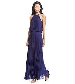 MSK® Pleated Halter Blouson Gown