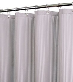 Watershed™ Satin Stripe Shower Curtain with Shower Hooks
