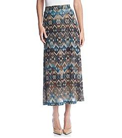 Evan Picone® Printed A-Line Maxi Skirt