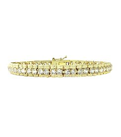 Designs by FMC Gold-Plated Rolex Style Cubic Zirconia Bracelet