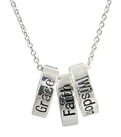 Athra Silver-Plated Inspirational Rings Necklace