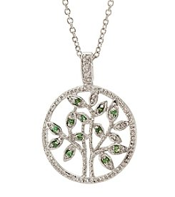 Athra Silver-Plated Tree of Life Pendant