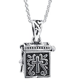 Athra Silver-Plated Prayer Box Necklace