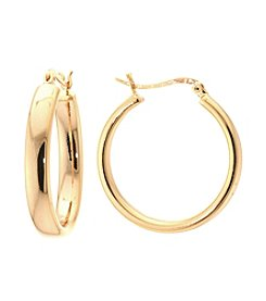 Athra Gold-Plated Polished Hoop Earrings