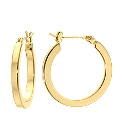Athra Gold-Plated Hoop Earrings
