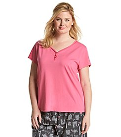 KN Karen Neuburger Plus Size Henley Top