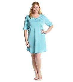KN Karen Neuburger Plus Size Aqua Night Shirt