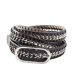 Nine West® Chain Inlay Belt