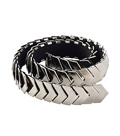 Nine West® Metal Stretch Chevron Belt