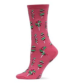 Hot Sox Rainbow Lollipop Crew Socks