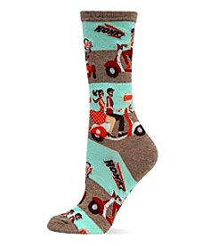 Hot Sox Vespa Crew Socks