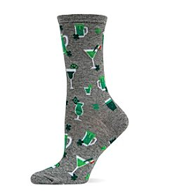 Hot Sox St. Patrick's Drink Crew Socks
