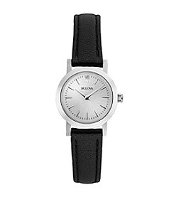 Bulova® Women's Stainless Steel Watch with Multi-Leather Straps