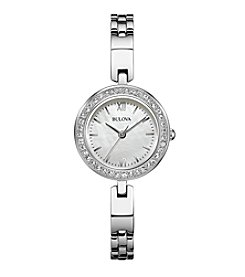 Bulova® Women's Stainless Steel Interchangeable Bezel Watch