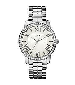Guess Gorgeous Luxe Silvertone Oversized Watch