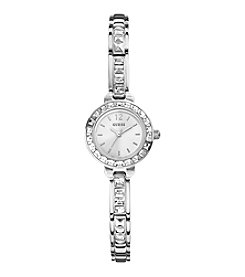 Guess Petite Glitz Silvertone Watch