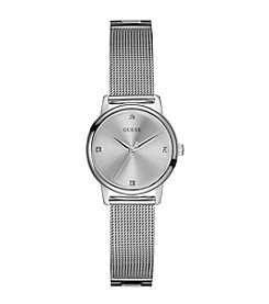 GUESS Women's Silvertone Sophistication Diamond Watch