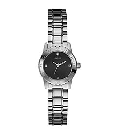 GUESS Sporty Sophistication Silvertone Diamond Watch