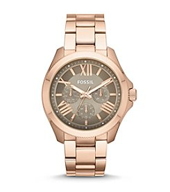 Fossil® Cecile Rose Goldtone Watch