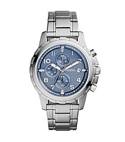 Fossil® Dean Silvertone Watch