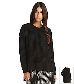 BCBGeneration™ Waffle Stitch Pullover