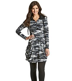 Kensie® Blurry Stripes Drapey Dress
