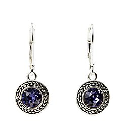 Napier® Swarovski Stone Silvertone Earrings