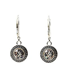 Napier® Swarovski Drop Silvertone Earrings
