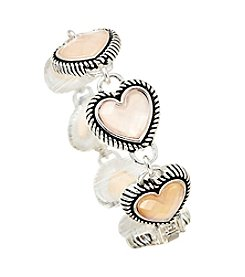 Napier® Silvertone Heart Bracelet in Gift Box