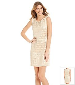 Jessica Simpson Beaded Neckline Dress