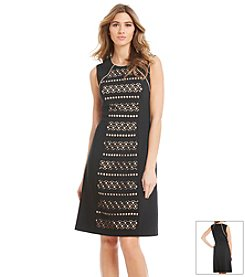 Anne Klein® Crepe Panel Fit And Flare Dress