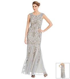 Adrianna Papell® Beaded Flounce Gown