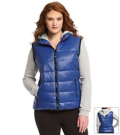 Marc New York Performance Plus Size Long Sleeve Puffer Vest Jacket