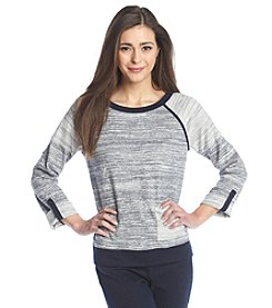 Jones New York Sport® Petites' Roll Tab Crewneck Sweatshirt